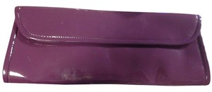 ALDO Patent Leather New Patent Plum Clutch
