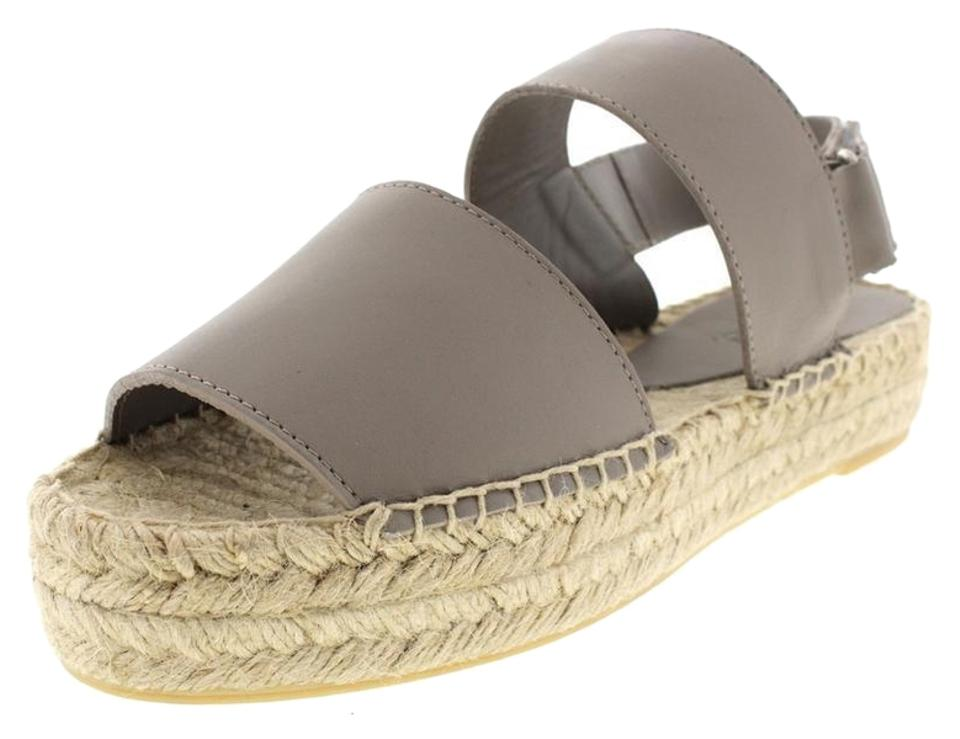 1cc26e91ecd0 Vince Gray Emilia Platform Espadrille Woodsmoke Leather Made In Spain Wedges
