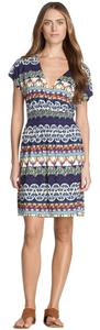 Tory Burch short dress Navy Multi Colored Jersey Silk on Tradesy