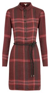 Burberry short dress Red Check Rope Belt on Tradesy