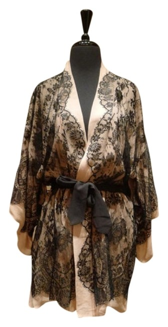 Preload https://item5.tradesy.com/images/jenny-packham-nude-black-chantilly-kimono-lace-lace-trim-silk-chiffon-night-out-top-size-os-one-size-1210504-0-0.jpg?width=400&height=650
