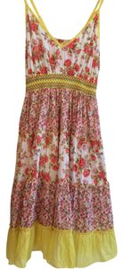 Modcloth short dress Mixed-Yellow, Red, White floral on Tradesy