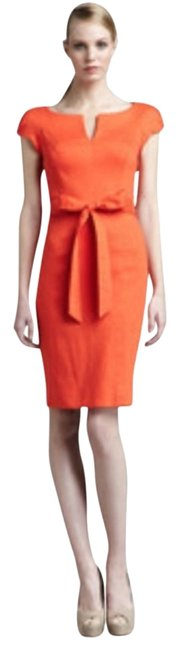 Item - Red Coral Haley Sheath Mid-length Work/Office Dress Size 2 (XS)