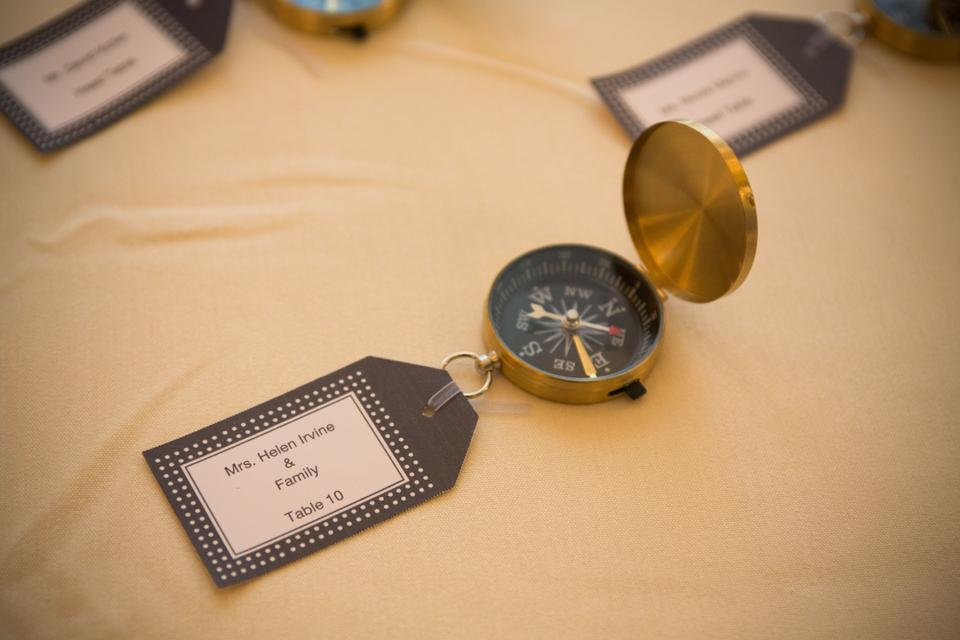 PartyTalk 50pcs Compass Wedding Favors for Guests Compass Souvenir Gift with