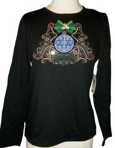 Pappagallo T Shirt BLACK EMBELLISH XMAs