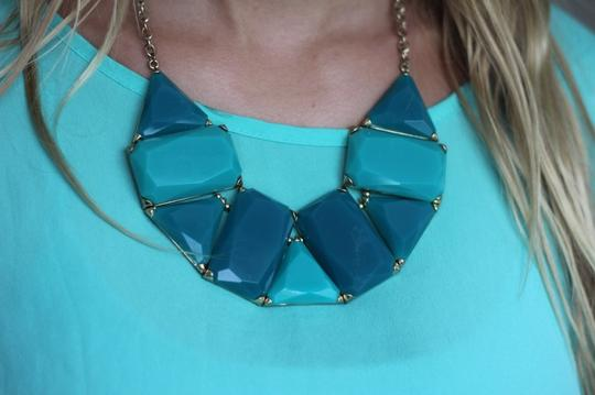 Francesca's Francesca's Blue Statement Necklace