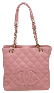 Chanel Caviar Petite Shopper Pst Tote in Pink
