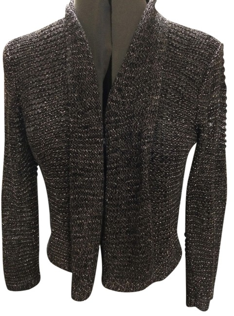 Item - Steel Gray with Silver Threads Cardigan Size 4 (S)