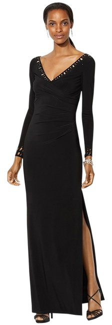 Preload https://img-static.tradesy.com/item/12106729/lauren-ralph-lauren-black-beaded-sleeve-jersey-long-formal-dress-size-4-s-0-1-650-650.jpg