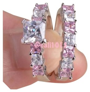 2PC Wedding Ring Set In Pink