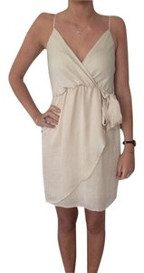 Francesca's short dress Beige/ Creme on Tradesy