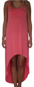Pink Coral Maxi Dress by Forever 21