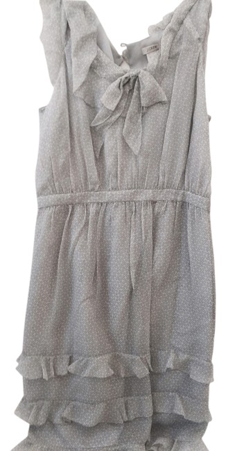 Item - Grey Silk Sleeveless Ruffle Mid-length Casual Maxi Dress Size 2 (XS)