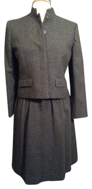 Item - Charcoal Gray Vintage Wool Skirt Suit Size 4 (S)