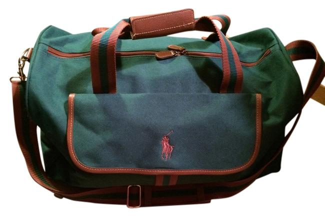 Item - Duffle & Green Brown Canvas Weekend/Travel Bag