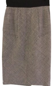 Diane von Furstenberg New With Tags Skirt Black and Ivory