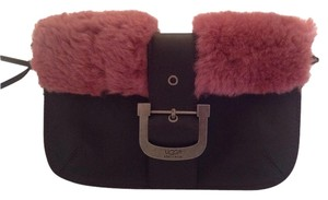 UGG Australia Sheepskin Wristlet in Pink and espresso