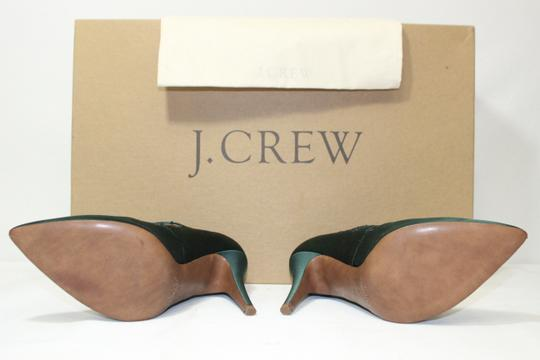 J.Crew Heels Pointed Toe Satin Green Pumps