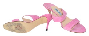 Suarez New York Suede Made In Italy Italian Slip On pink Sandals