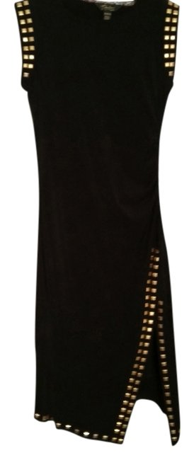 Item - Black and Gold Long Cocktail Dress Size 0 (XS)