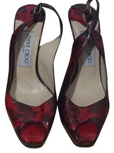 Jimmy Choo Red and black Platforms