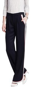 Banana Republic Piped Pleated Wide Leg Zip Fly Dolphin Cuffs Pants