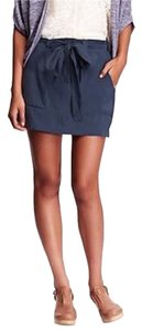Old Navy Tie-belt Skirt 1x New Dress Shorts Blue