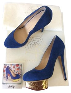 Charlotte Olympia Blue Platforms