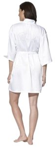 Gilligan & O'Malley BRIDE Gilligan & O'Malley White Satin Bridal Wedding Robe