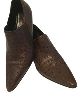 Walter Steiger Ostrich Leather Italian Brown Boots