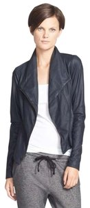 Vince Navy Blue Leather Jacket