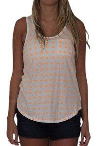 Gap Top White & Orange Polka Dots