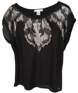 WD.NY Date Sequins Top Black