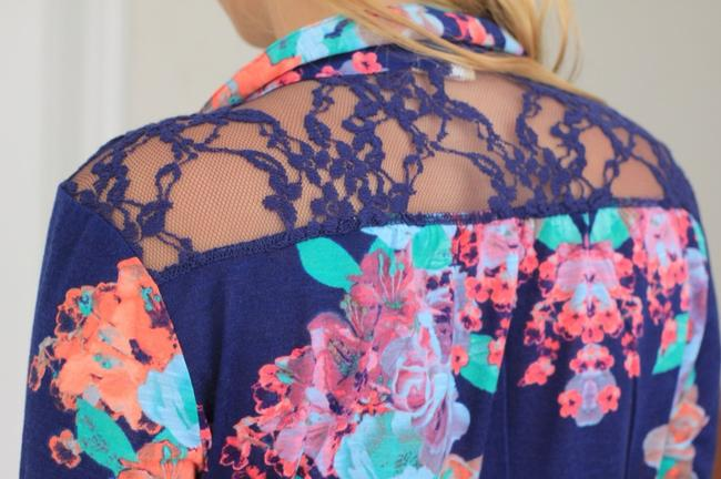 Other Button Down Shirt Navy & Floral