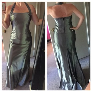 David's Bridal Platinum / Silver Two Piece Dress
