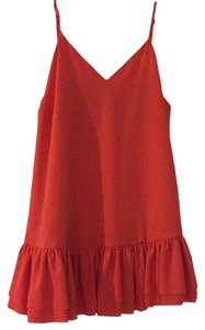 Lovers + Friends short dress Coral Babydoll Red on Tradesy