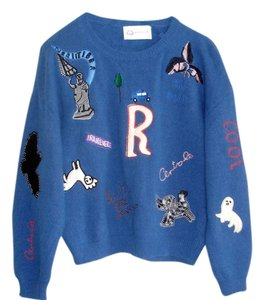 Other Angora Sweaters Blue Sweaters Patch Patches Top cobalt blue
