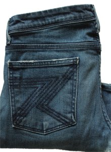 7 For All Mankind Denim Medium Wash Dark Wash Boot Cut Jeans-Medium Wash