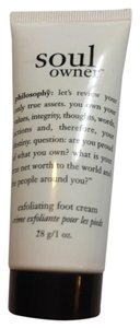 Sealed philosophy soul owner exfoliating foot cream 1oz travel size