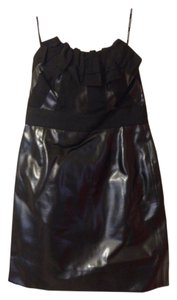 Phoebe Couture Bustier Strapless Vegan Leather Date Dress