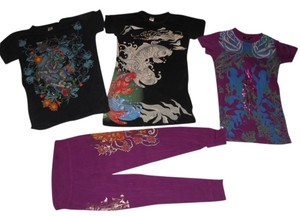Christian Audigier-Ed Hardy Cotton Lot T Shirt