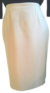 Wool Pencil Skirt Camel