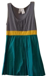 L8ter short dress Gray Yellow Teal on Tradesy