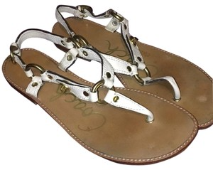 Coach Ivory leather wirh gold hardwear Sandals