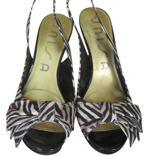 Unisa High Heal Black and Tan Pumps Image 0