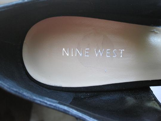 Nine West Suede Formal Heal Black Sandals Image 4