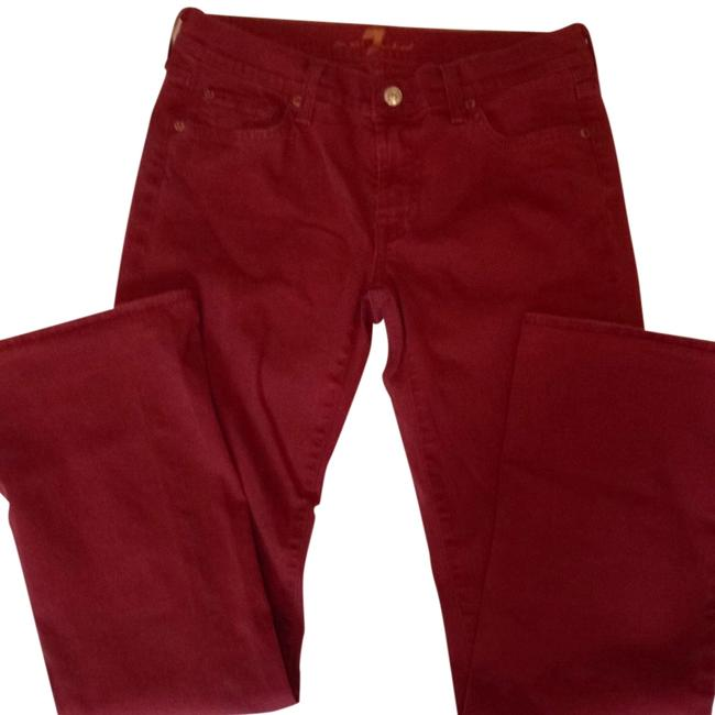 Item - Red Medium Wash Boot Cut Jeans Size 28 (4, S)