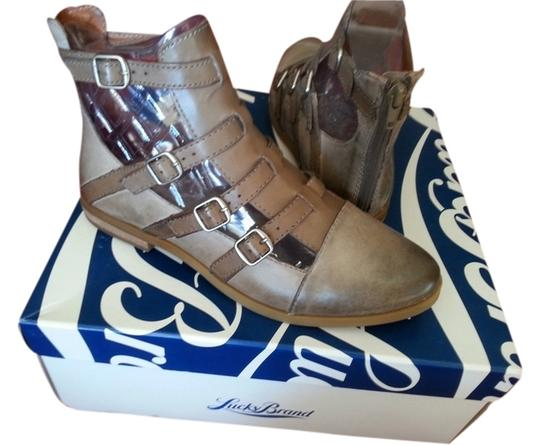 Lucky Brand Leather Silver Hardware Brindle Boots