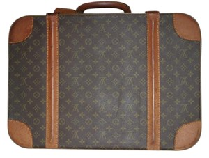 Louis Vuitton Stratos Monogram Suitcase Lv Luggage Brown Travel Bag