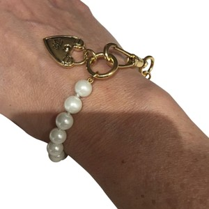 Lauren Ralph Lauren Lauren Pearl And Logo Locket Bracelet